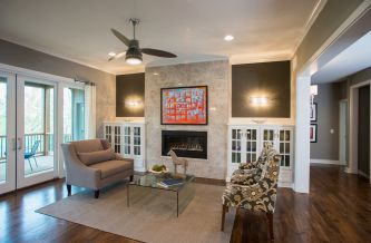 Hadley Custom Home Living Room